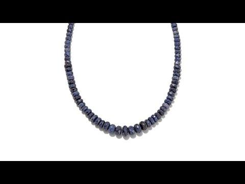 Jay King Graduated Blue Sapphire Bead 18