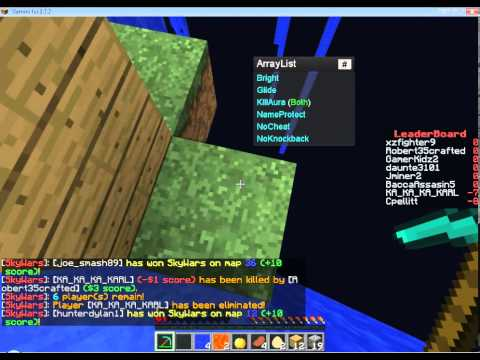 How to use Gemini Hack Client in Minecraft Sky wars