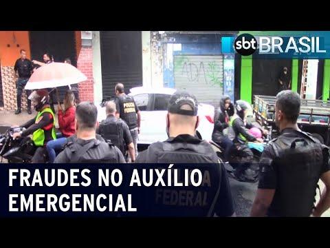PF faz operação para combater fraudes no auxílio emergencial   SBT Brasil (10/12/20)