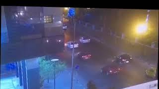 اللقطات الأولى لانفجار السيارة المسروقة  بالحادث الإرهابي في معهد الأورام