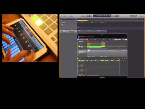 Maschine Studio with Logic Pro X and iPad Air