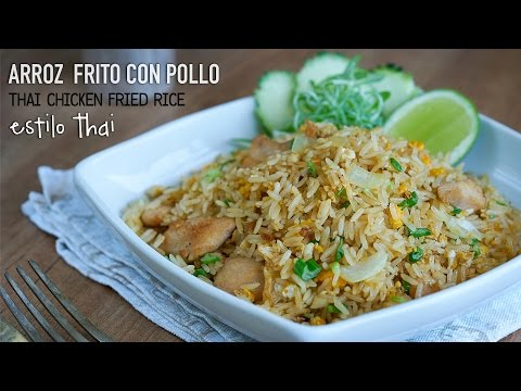 Arroz frito con pollo estilo Thai - Easy Thai Chicken Fried Rice Recipe l Kwan Homsai