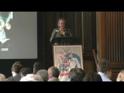 Jenny Hannley celebrating Robert S Baker