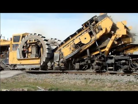 Worlds Largest Railway Construction Equipment Modern Technology, Awesome Powerful Railroad Machines