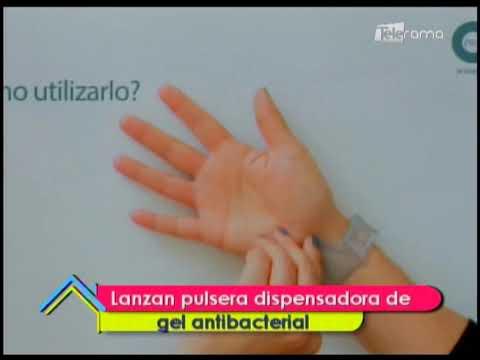 Lanzan pulsera dispensadora de gel antibacterial