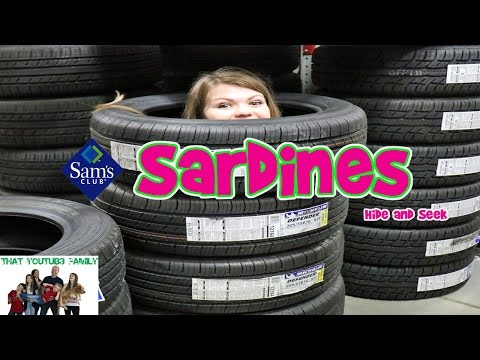 Sardines Hide And Seek In Sams Club - Audrey Hid The Best! / That Youtub3 Family Family Channel