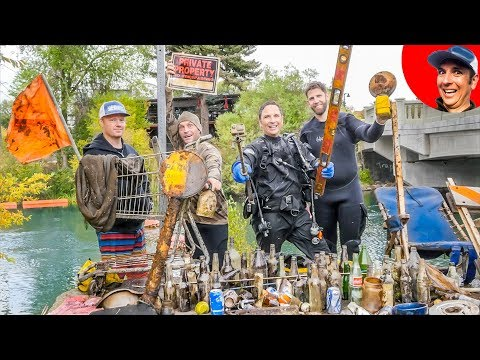 We Found $2365 in Underwater River Treasure! {Scuba Diving}_Búvárkodás. Heti legjobbak
