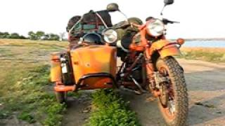 7. A Russian URAL motorcycle