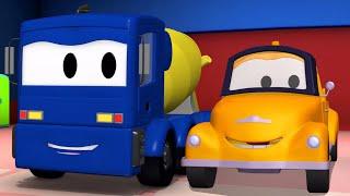çekici tom ve beton kamyon  araba ve kamyon inşaat çizgi filmi çocuklar için