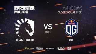 OG vs Team Liquid, EPICENTER Major 2019 EU Closed Quals , bo3,game 1 [Mila & Inmate]