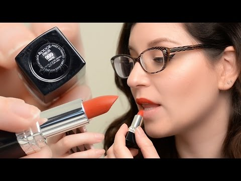 Rouge Dior Lipstick in 999 Matte Review, Demo & 12hr wear test | CORRIE SIDE
