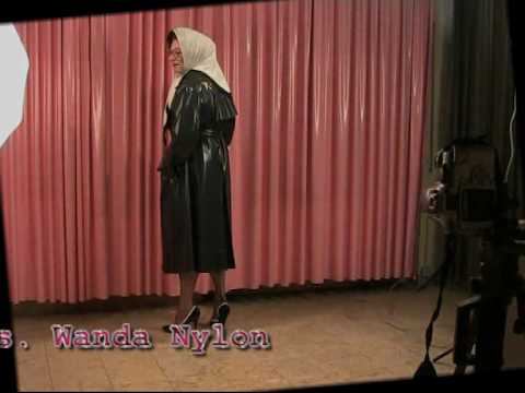 wandanylon - Video footage of Mrs. Wanda Nylon's latest rainwear fashion photoshoot at Rainprotect. All rainwear available at www.rainprotect.com.