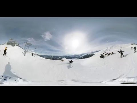 Snowboard a Freeski - 360° VR VIDEO