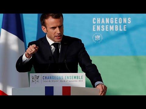 Γαλλία: Την ενεργειακή πολιτική του παρουσίασε ο Μακρόν, στη σκιά των διαδηλώσεων…