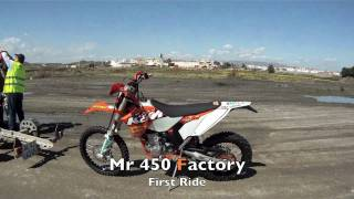 3. 2011 KTM 450 EXC F FACTORY first ride