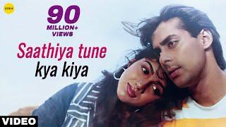 Video Saathiya Tune Kya Kiya - Video Song | Love | Salman Khan,Revathi | 90's Superhit Evergreen Love Song MP3, 3GP, MP4, WEBM, AVI, FLV Agustus 2019
