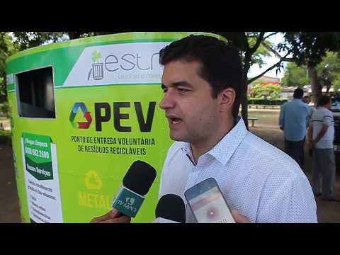 Rui Palmeira entrega Ponto de Entrega Voluntária de material reciclável