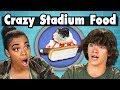 TEENS EAT CRAZY STADIUM FOOD! | Teens Vs Food