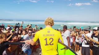 John John Florence continues to sit at the top of the Jeep Leaderboard at the Oi Rio Pro.