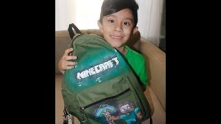 make an awesome  DIY minecraft steve school backpack timelapse
