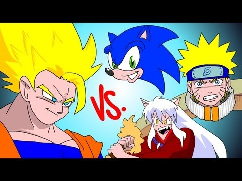GOKU vs EVERYBODY UCF7.5 SONIC! NARUTO! INUYASHA!