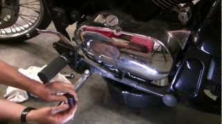 7. How to change motorcycle oil,  Kawasaki Vulcan