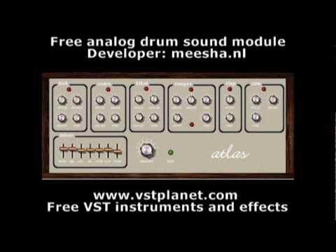 Atlas - Free analog drum module - vstplanet.com видео