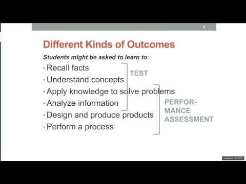 How a Performance Assessment Shows What Students Know and Can Do