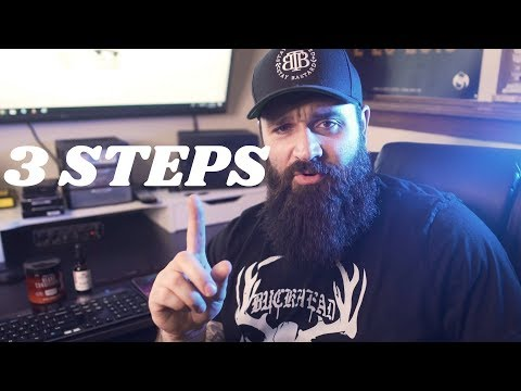 Beard oil - 3 STEPS to get rid of pimples under your beard