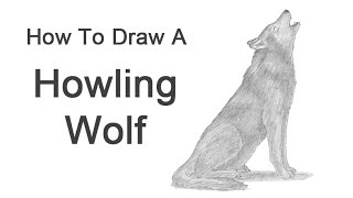 How To Draw A Wolf Howling