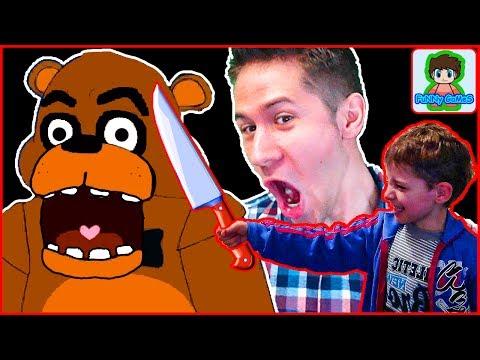 Страшный МИШКА напугал в игре 5 Ночей с Фредди от Фаника Five Nights at Freddy's 2