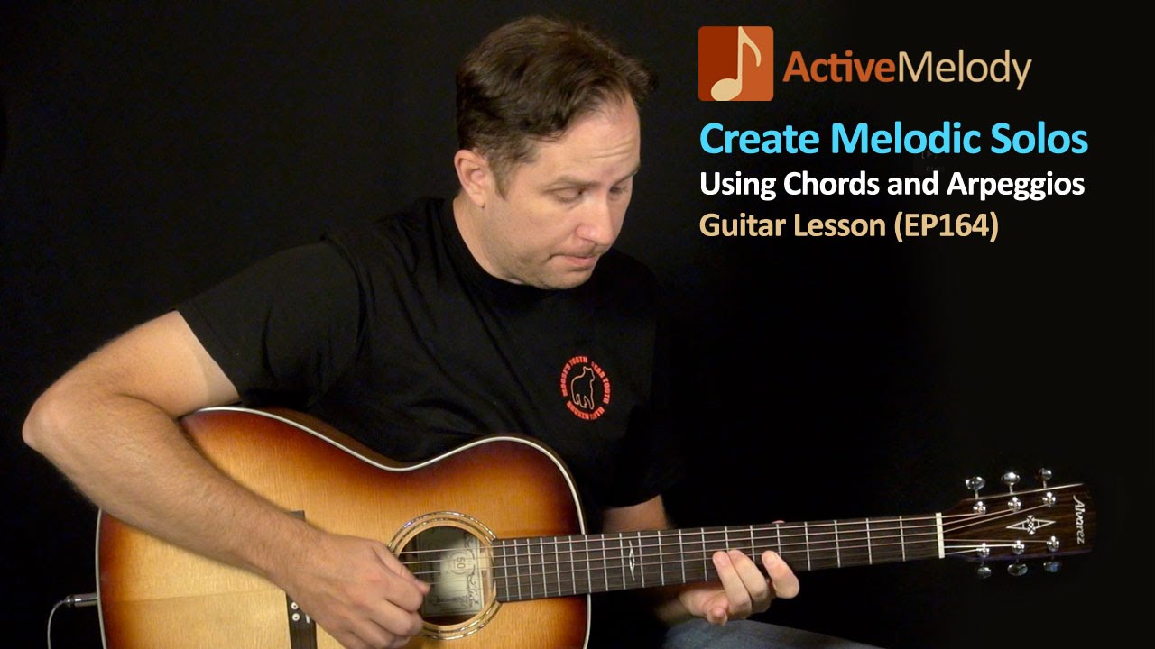 Using Chord Shapes To Create Melodic Guitar Solos – Guitar Lesson – EP164