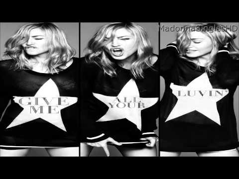 Tekst piosenki Madonna - Give Me All Your Luvin' (Party Rock Remix)  feat. LMFAO & Nicki Minaj po polsku