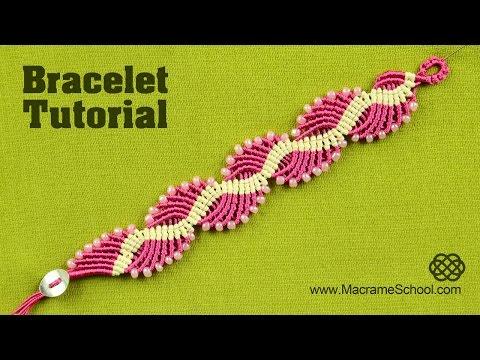 bracciale ondulato in macramè