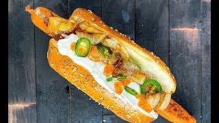 SEATTLE HOTDOG fr scratch - HOW TO MAKE by Food Busker