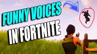 FORTNITE - Trolling w/ Funny Voices (& oops I killed a fan)