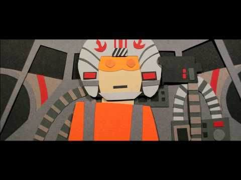 Papercraft Star Wars Music Video