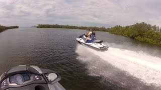 2. Yamaha FX SHO Cruiser versus Kawasaki STX 15F - top speed running head to head