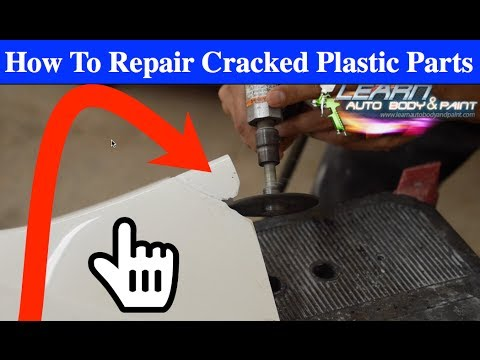 How To Repair Cracked Plastic Car or Bike Parts