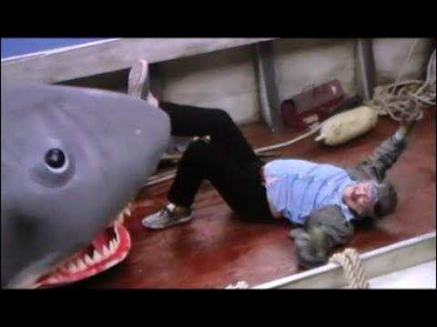Jaws Quint's Death Rare Behind Scenes Film Shark Attack Orca Parody