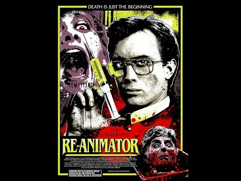 Talking re-animator 1985 H. P. Lovecraft zombie re animation cult horror film review