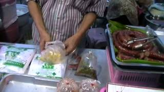 Buying 3 Course Dinner For 50 Baht In Chiang Mai Thailand.