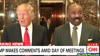 After Meeting With Donald Trump Steve Harvey Steps Up To The Mic At Trump Tower