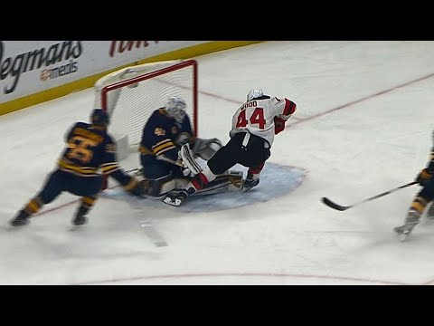 Video: Devils' Wood flies by Ristolainen, beats Lehner for opening goal