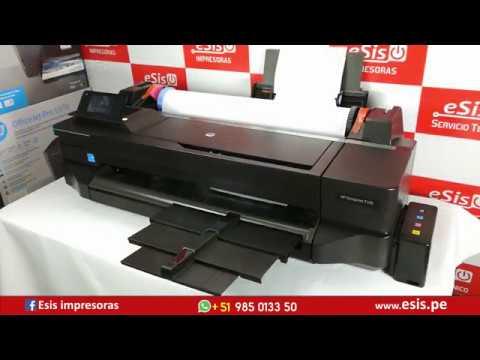 El mejor Plotter A1 HP T120 con Sistema Continuo  20,000 impresiones sin problemas