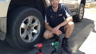 """We put Hitachi's WR18DBDL Brushless 1/2"""" Impact Wrench up against Milwaukee's M18FIWF12 Fuel Gen 2 1/2"""" Impact Wrench, in a Pitstop challenge changing wheels on a Toyota Prado."""