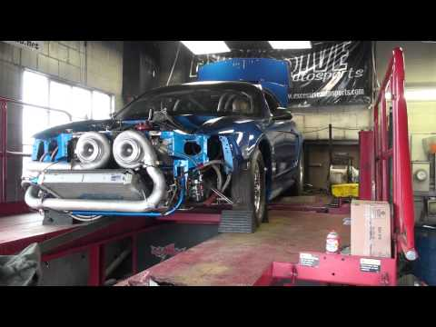 Twin turbo Mustang produces serious power on the dyno