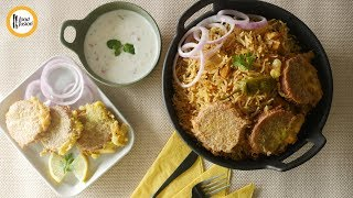 Chicken Pulao with Shami Kabab Recipe By Food Fusion