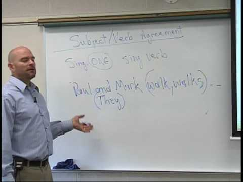 Subject Verb Agreement Video