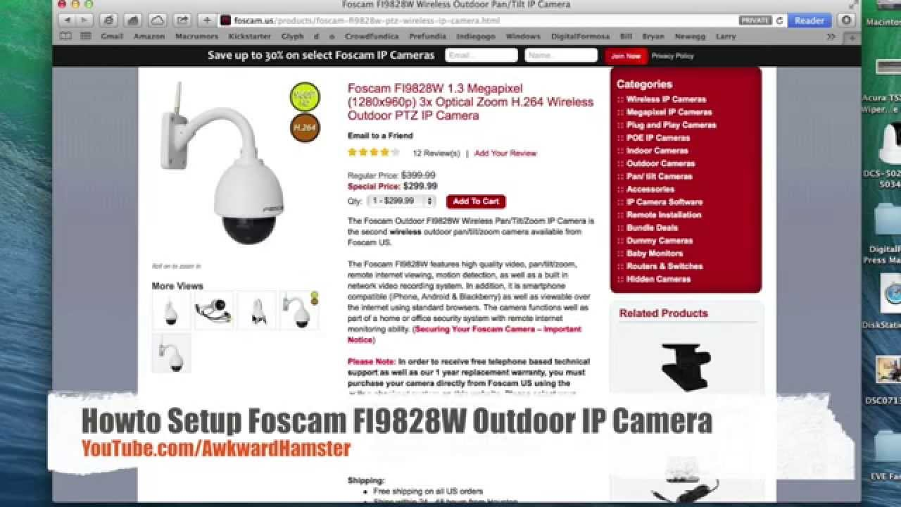 Foscam FI9828W 1.3 PTZ Wireless Outdoor Camera Review